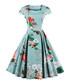Green cotton floral midi dress Sale - Mixinni Sale