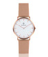 Rose gold-tone & white steel mesh watch Sale - Paul McNeal Sale