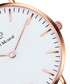 White & rose gold-tone leather watch Sale - paul mcneal Sale