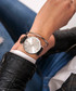 Black & silver-tone leather strap watch Sale - Paul McNeal Sale
