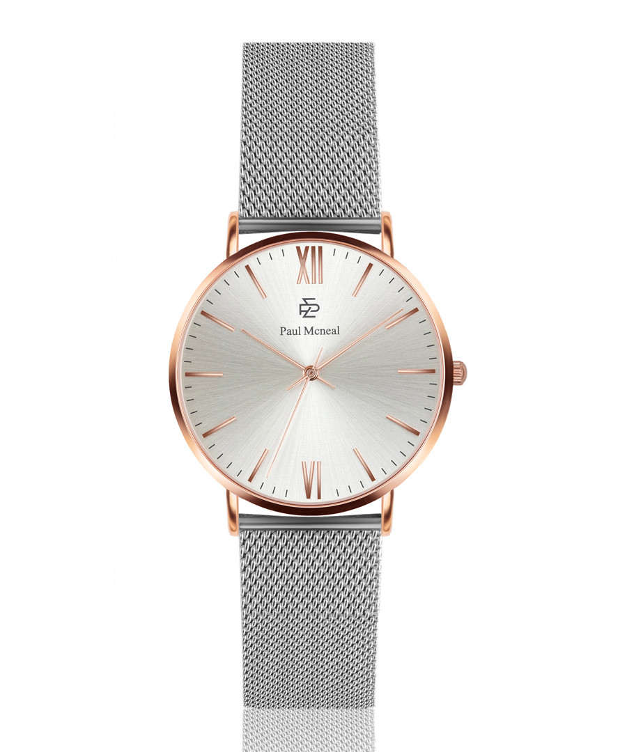 Silver-tone stainless steel mesh watch Sale - Paul McNeal
