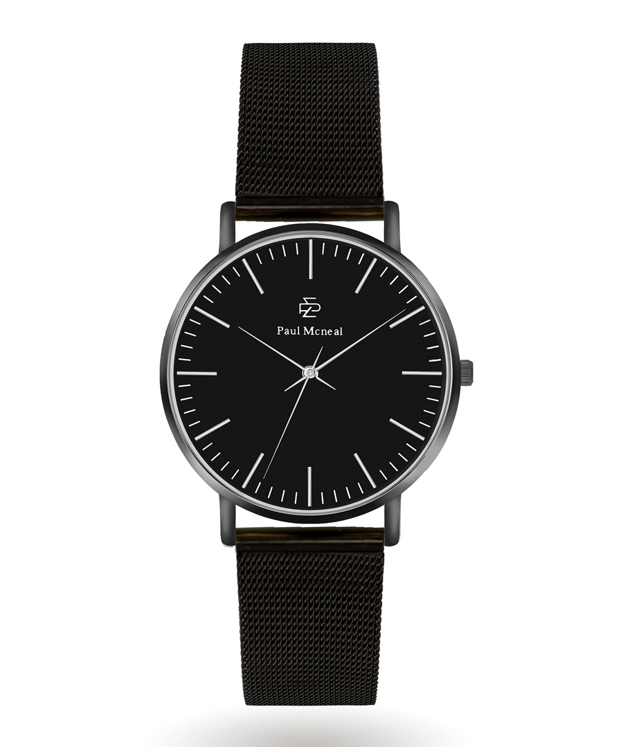 Black & silver-tone watch  Sale - Paul McNeal