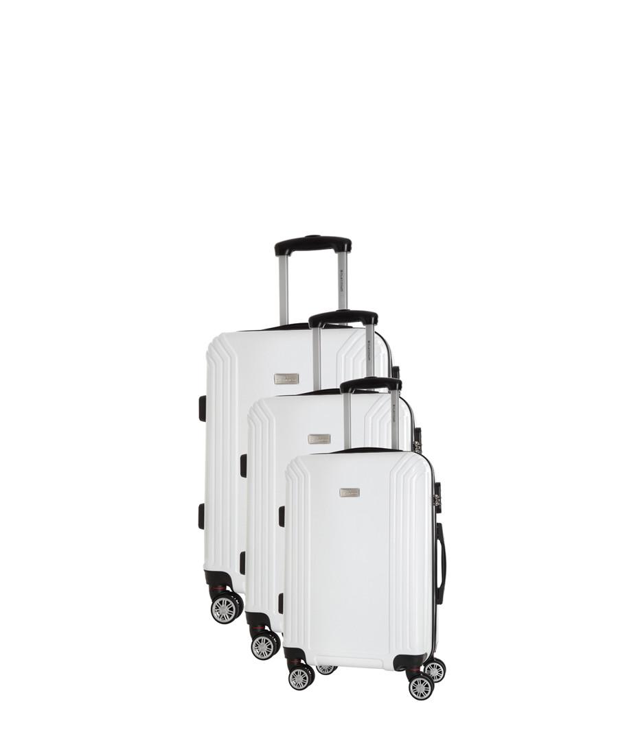 3pc white spinner suitcase nest Sale - platinium