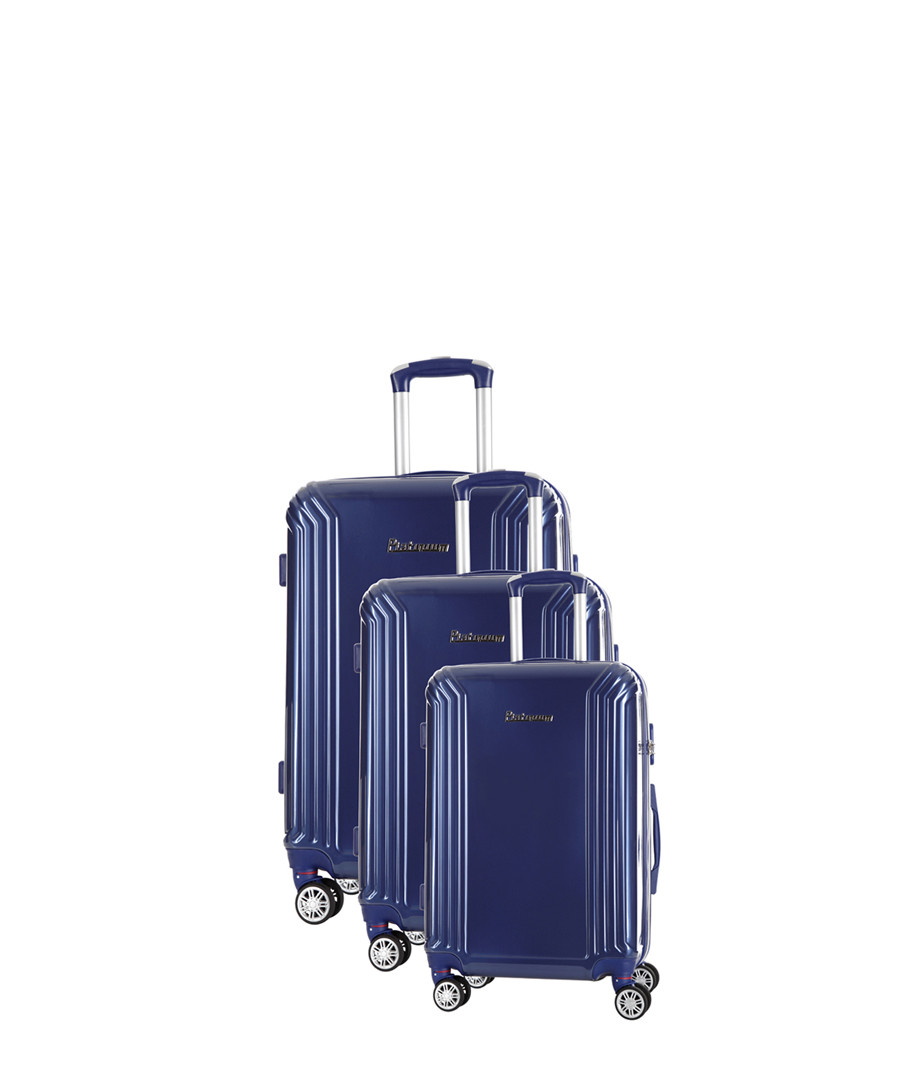 3pc blue spinner suitcase nest Sale - platinium