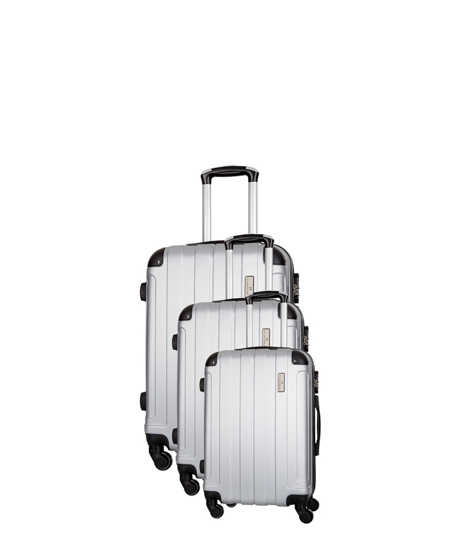 3pc silver spinner suitcase nest Sale - platinium