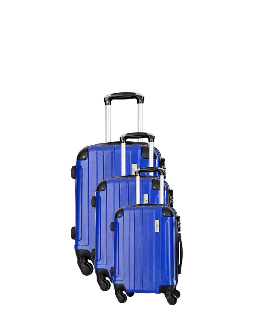 3pc blue spinner suitcase nest Sale - platinium