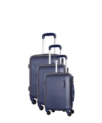 3pc marine spinner suitcase nest