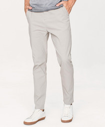 Grey cotton blend trousers