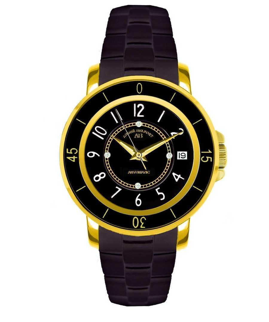 Aphrodite black & crystal watch Sale - andre belfort