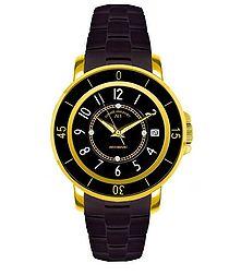 Aphrodite black & crystal watch