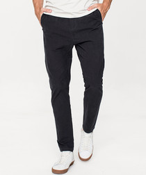 Charcoal cotton trousers
