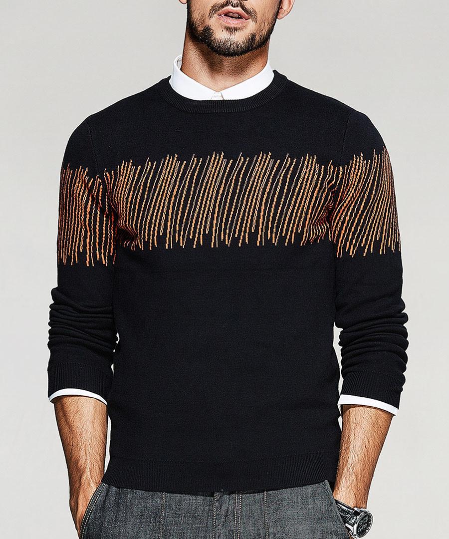 Black embellished knit jumper Sale - kuegou