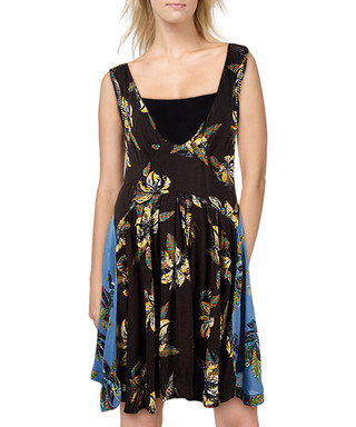 acabac8ecdba Free People. Thought I Was Dreamin black plunge dress