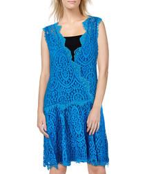 Heart In Two blue cotton blend dress
