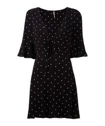 All Yours black spotty mini dress