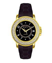 Aphrodite black crystal bezel watch