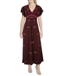 Cleo purple embroidered jumpsuit