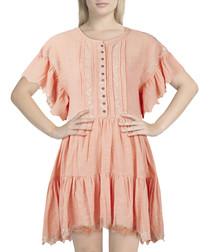 Santiago mauve cotton ruffle dress