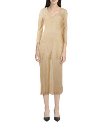 It's Like This neutral V-neck maxi dress