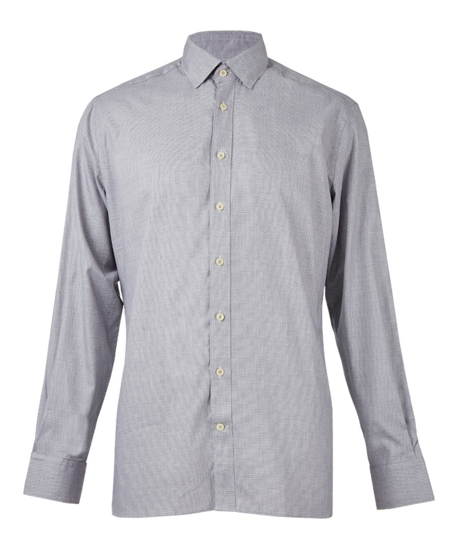 Grey pure cotton long sleeve shirt  Sale - hackett london