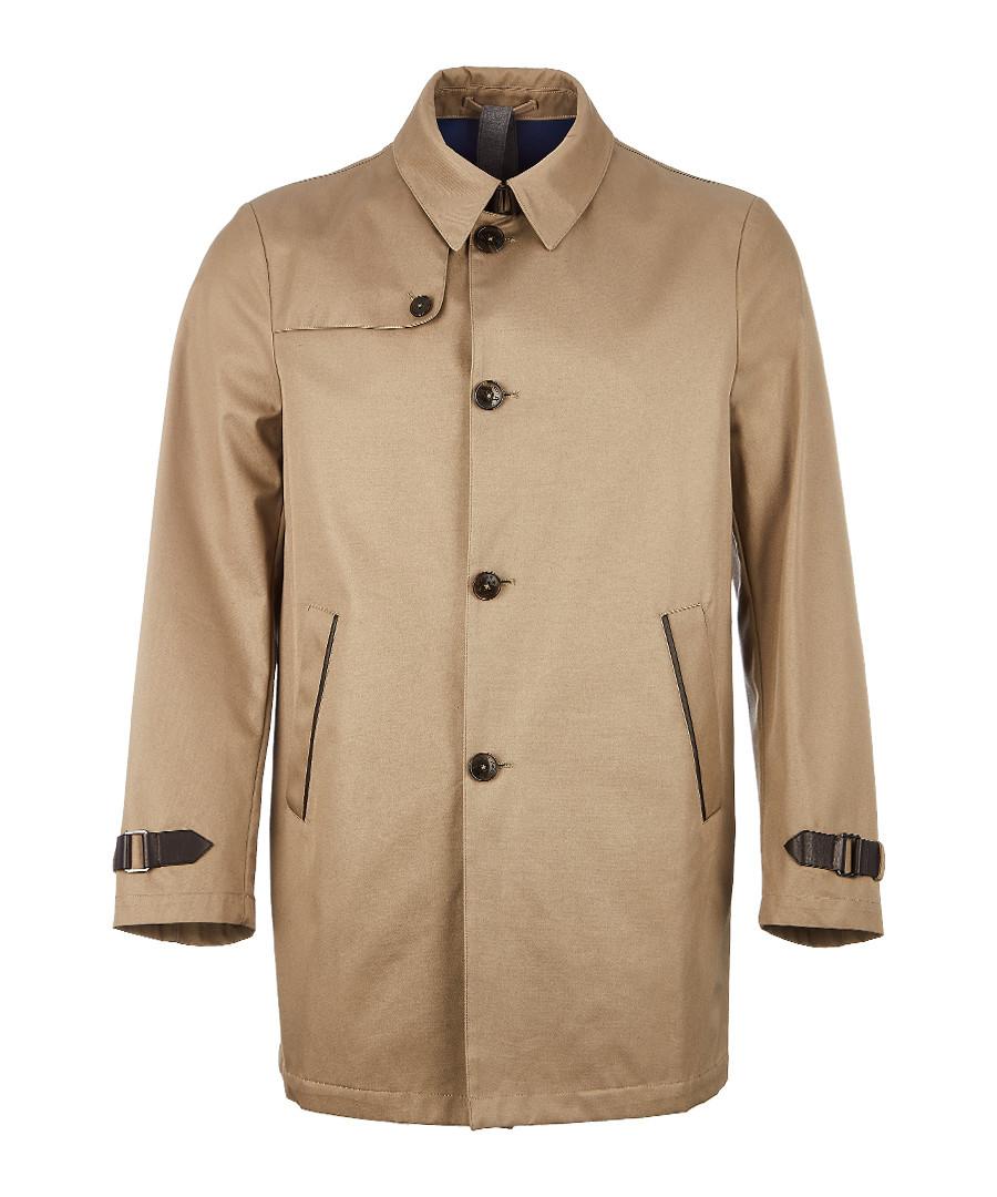 Khaki pure cotton Mackintosh Sale - hackett london