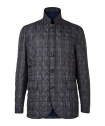 Charcoal pure cotton quilted jacket