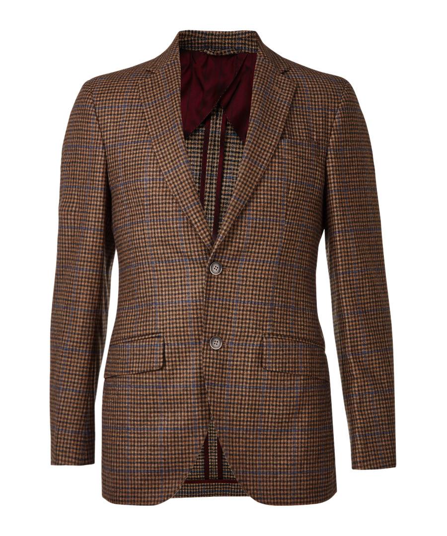 Brown pure wool tweed blazer  Sale - hackett london