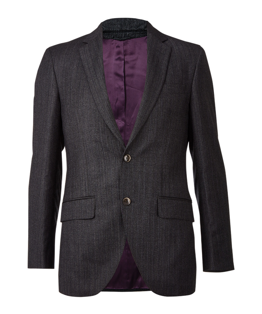 Charcoal pure wool tweed blazer  Sale - hackett london
