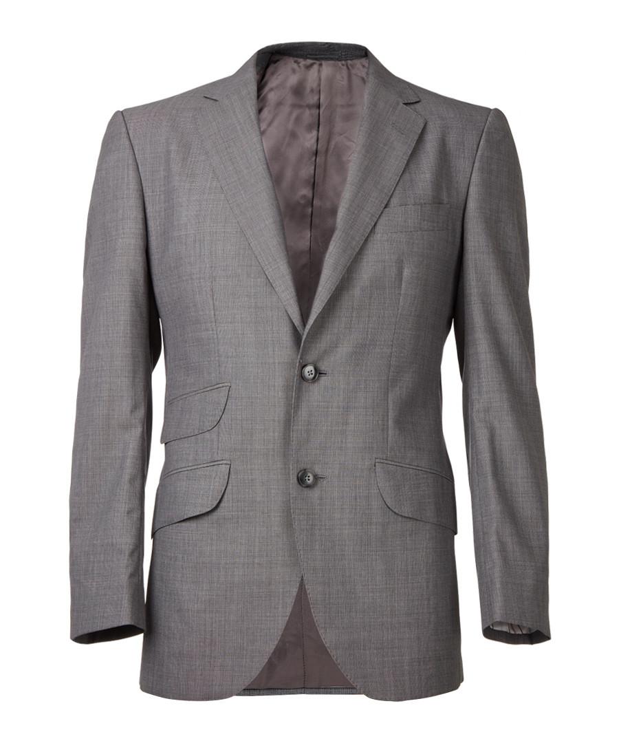 Grey pure wool long sleeve blazer  Sale - hackett london