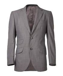 Grey pure wool long sleeve blazer