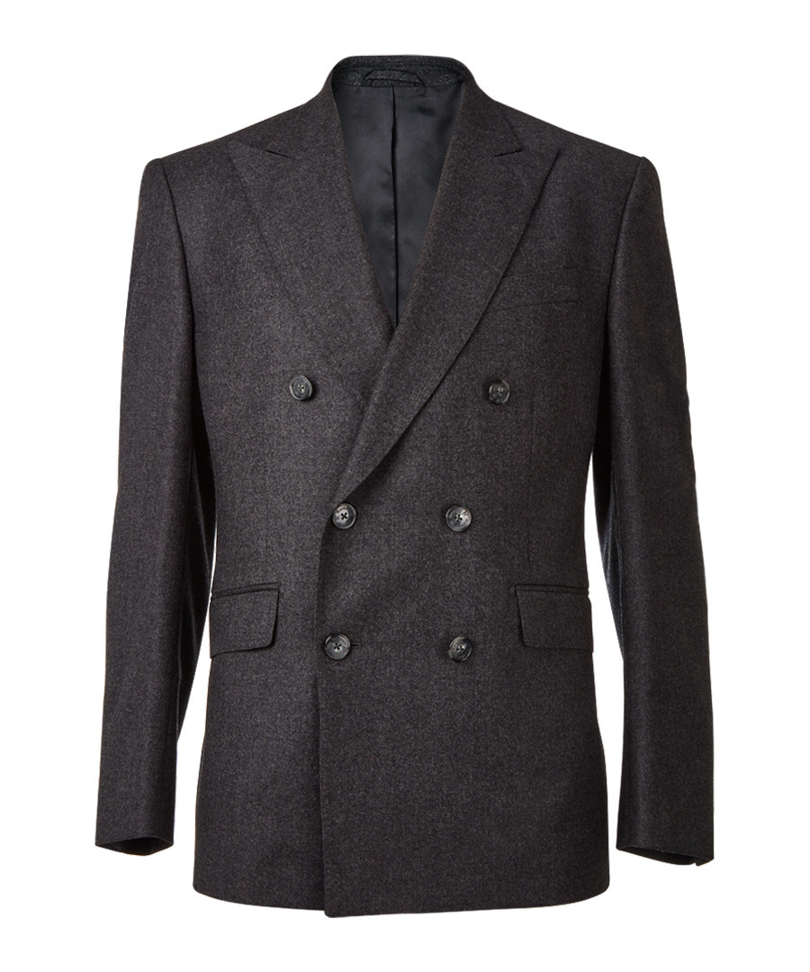 Dark grey double breasted blazer Sale - hackett london