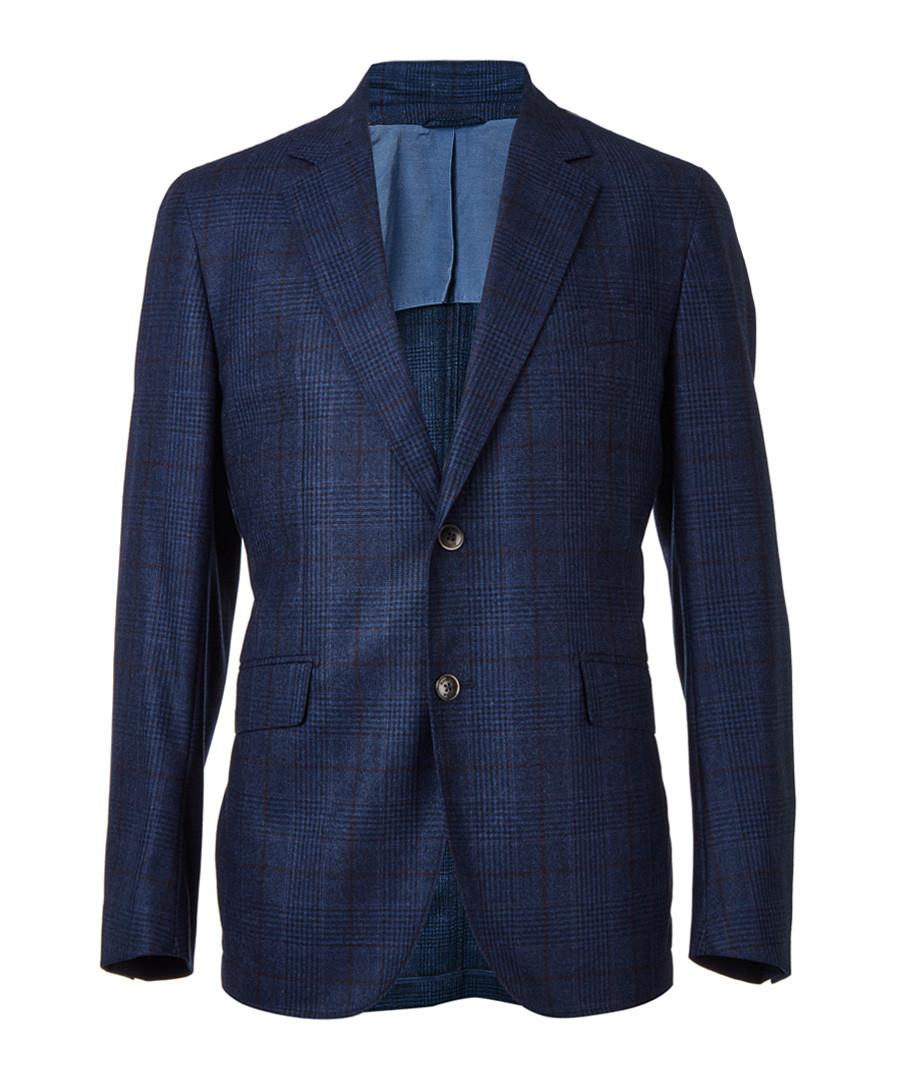 Navy wool long sleeve blazer Sale - hackett london