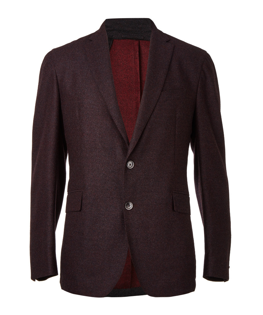 Bordeaux wool single breasted blazer Sale - hackett london