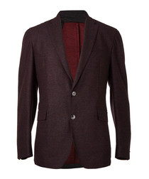 Bordeaux wool single breasted blazer