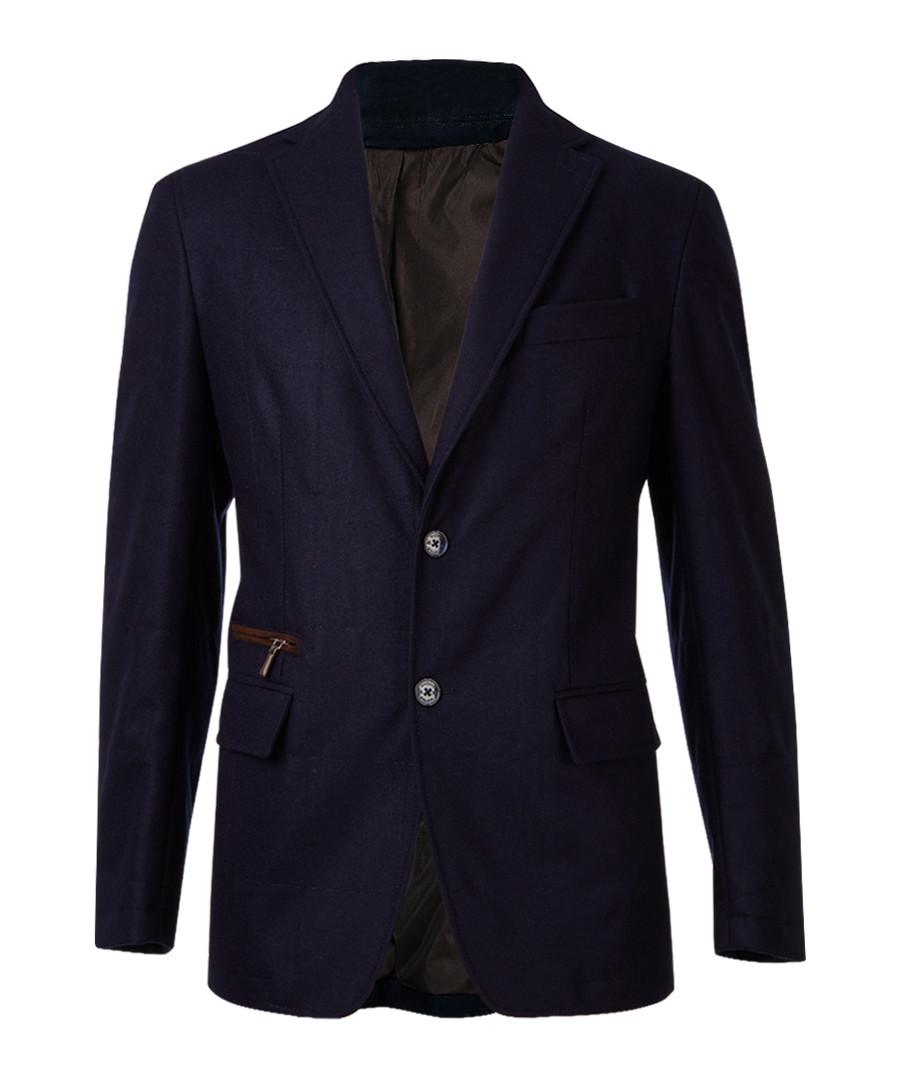 Navy pure wool single breasted blazer  Sale - hackett london