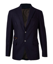 Navy pure wool single breasted blazer