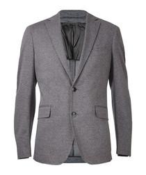 Light grey pure cotton blazer