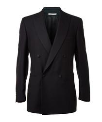 Black wool & mohair blend blazer