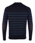 Navy cotton linen blend stripe jumper Sale - hackett london Sale