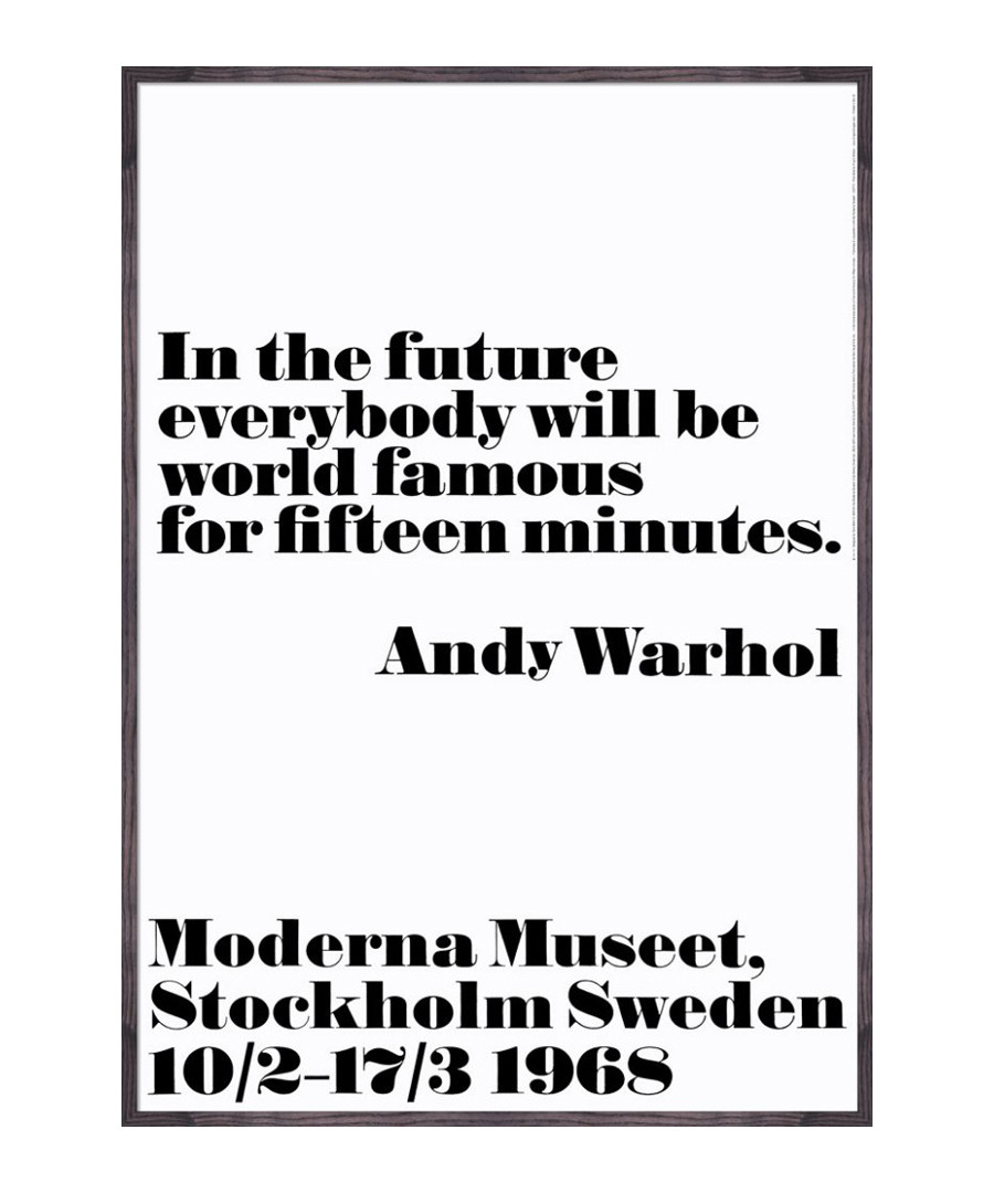 In The Future framed print Sale - Andy Warhol
