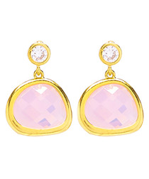 14ct gold-filled pink drop earrings