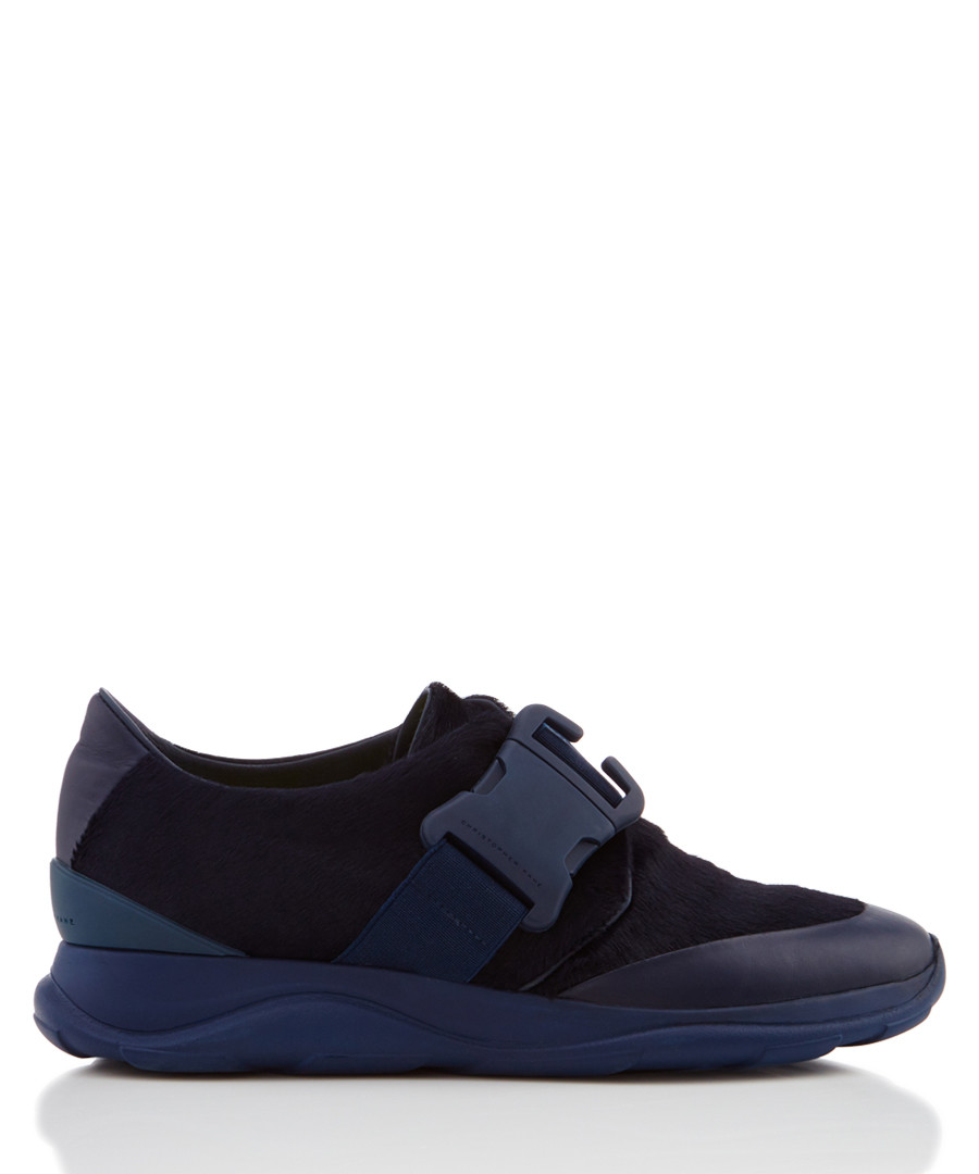 Navy buckle sneakers Sale - Christopher Kane