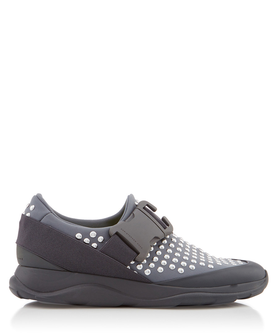 Women's grey & silver buckle sneakers Sale - Christopher Kane