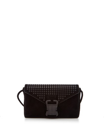 Devine black leather cross body bag