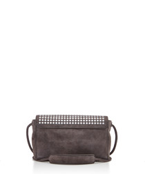 Devine grey leather cross body bag