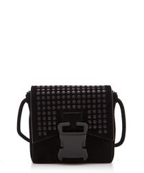 Bonnie black leather cross body bag