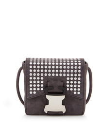 Bonnie grey leather cross body bag