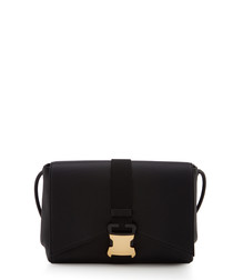 Irvine black leather cross body bag