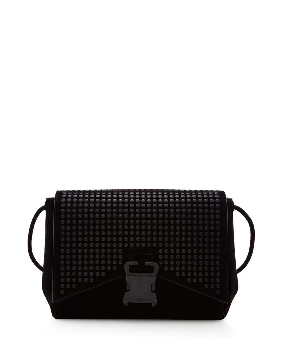 Irvine black leather cross body bag Sale - Christopher Kane