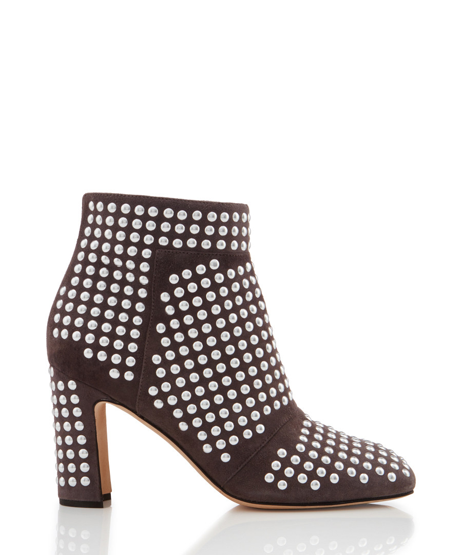 Dots grey leather stud ankle boots Sale - Christopher Kane